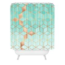 "Society6 Elisabeth Fredriksson Soft Gradient Aquamarine Shower Curtain, 72"" x 69"" x 0.1"", Green"