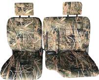 RealSeatCovers 3 Layer Front 60/40 Split Bench Seat Cover for 1998 Toyota Tacoma Adjustable Headrest Armrest Belt Cut Out Exact Fit A67 (Muddy Water Camo)