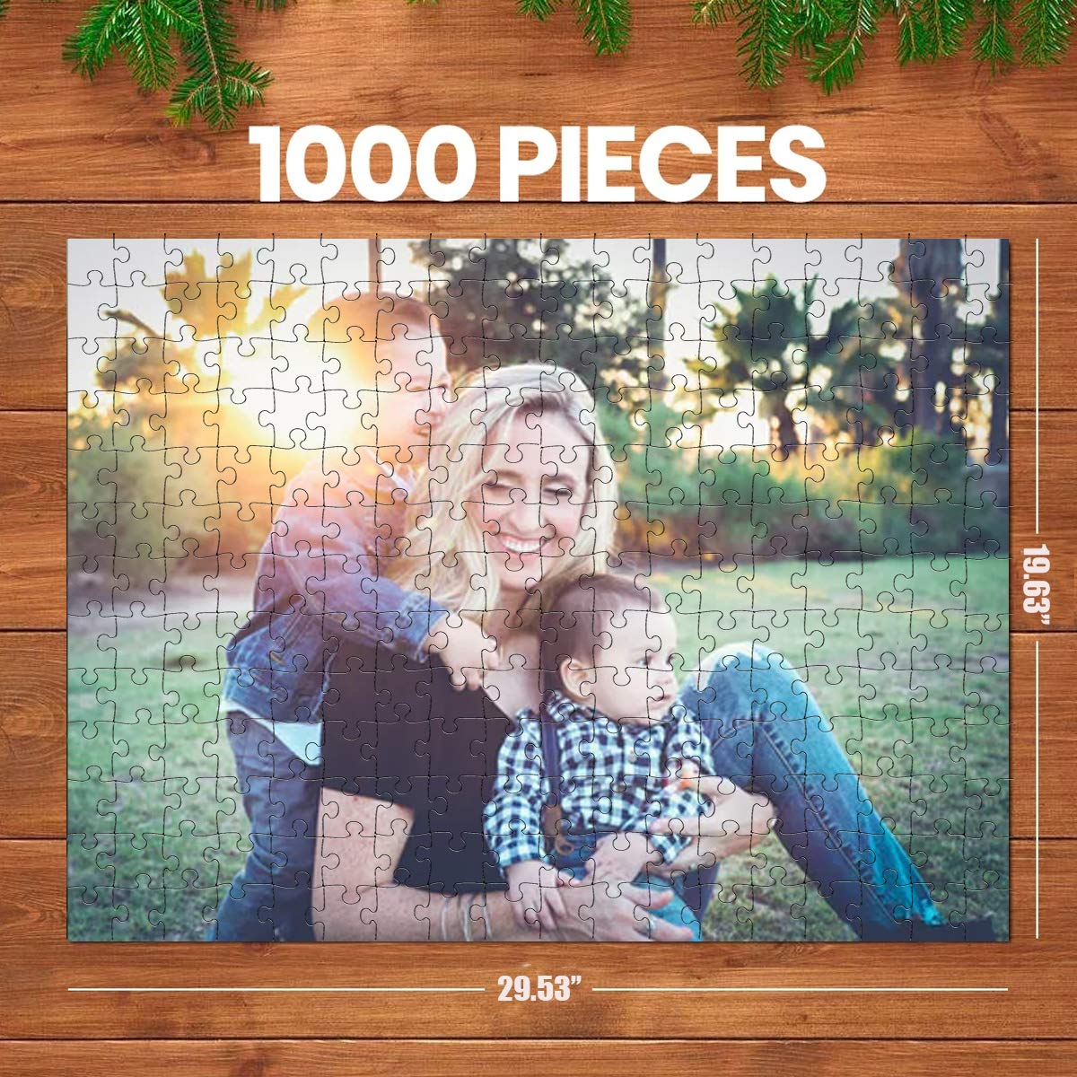 Custom Puzzle 1000 Piece for Adults, Personalized Jigsaw Puzzles with Your Photo, Family Photo Gift, Toys Gift, Boredom Buster Activity, Pet Portrait