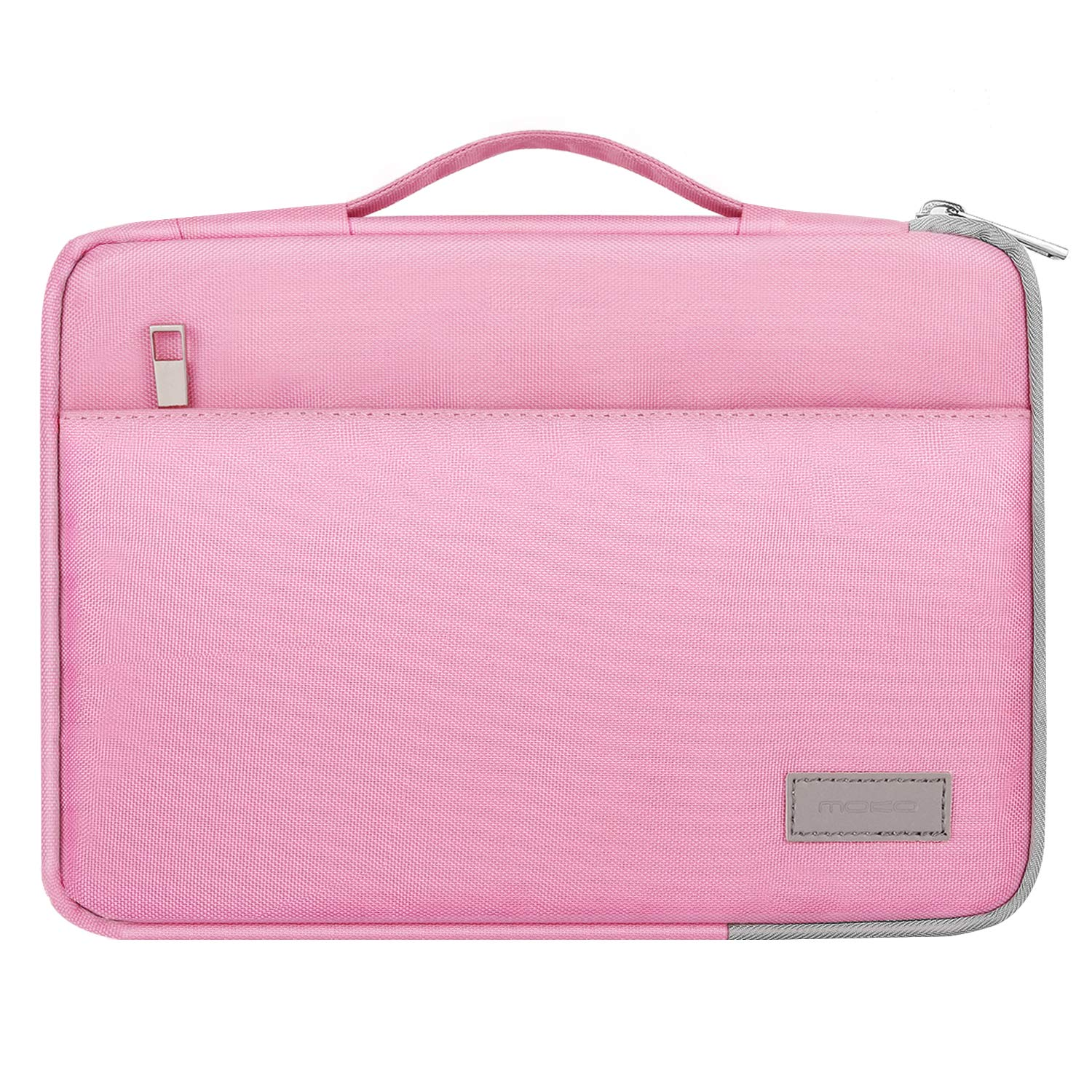 MoKo 8-10.1 Inch Kids Tablet Sleeve Case, Polyester Zipper Carrying Case Bag Fits Fire HD 10 / HD 8 Kids Edition, Kindle Fire HD 10.1 Inch 2019, with Accessory Pocket - Pink