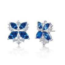 MIYUMIRO Women's Royal Bloom in Blue Butterfly Stud Earrings - Royal Blue Collection