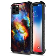 Compatible with iPhone 12 Pro Max Case,Black Blue Yellow Galaxy iPhone 12 Pro Max Cases,Fashion Graphic Design Shockproof Anti-Scratch Case for Apple iPhone 12 Pro Max