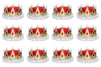 Beistle 66111-R 12-Pack Royal Queen's Crown, Red