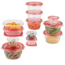 Rubbermaid TakeAlongs Assorted Food Storage Containers, Tint Chili, 12 Count