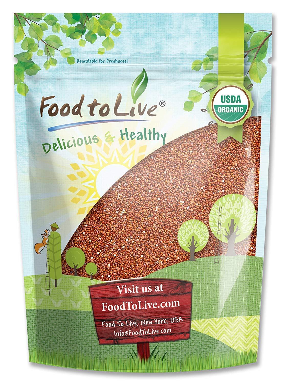 Organic Red Quinoa by Food to Live (Kosher, Bulk) — 1 Pound