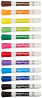 AmazonBasics Dry Erase White Board Markers - Low Odor, Chisel Tip - 12 Pack, Assorted Colors