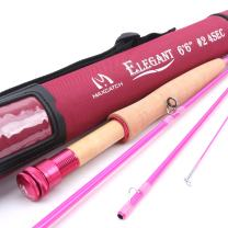 M MAXIMUMCATCH Maxcatch Women's Elegant Pink Fly Fishing Rod: 2/5-weight with Rod Tube
