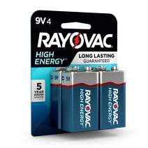 Rayovac 9V Batteries, Alkaline 9V Battery (4 Count)