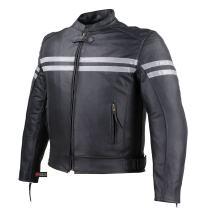 Mens Track Biker Motorcycle Leather CE Armor Moto Riding Racer Black Jacket S