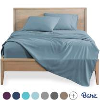 Bare Home Queen Sheet Set - 1800 Ultra-Soft Microfiber Bed Sheets - Double Brushed Breathable Bedding - Hypoallergenic – Wrinkle Resistant - Deep Pocket (Queen, Dusty Blue)