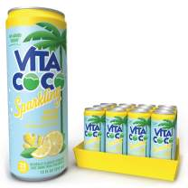 Vita Coco Sparkling Water, Lemon Ginger | Boosted with Coconut Water | 25 Calories | No Added Sugar | Full of Flavor - 12 Oz (Pack of 12)