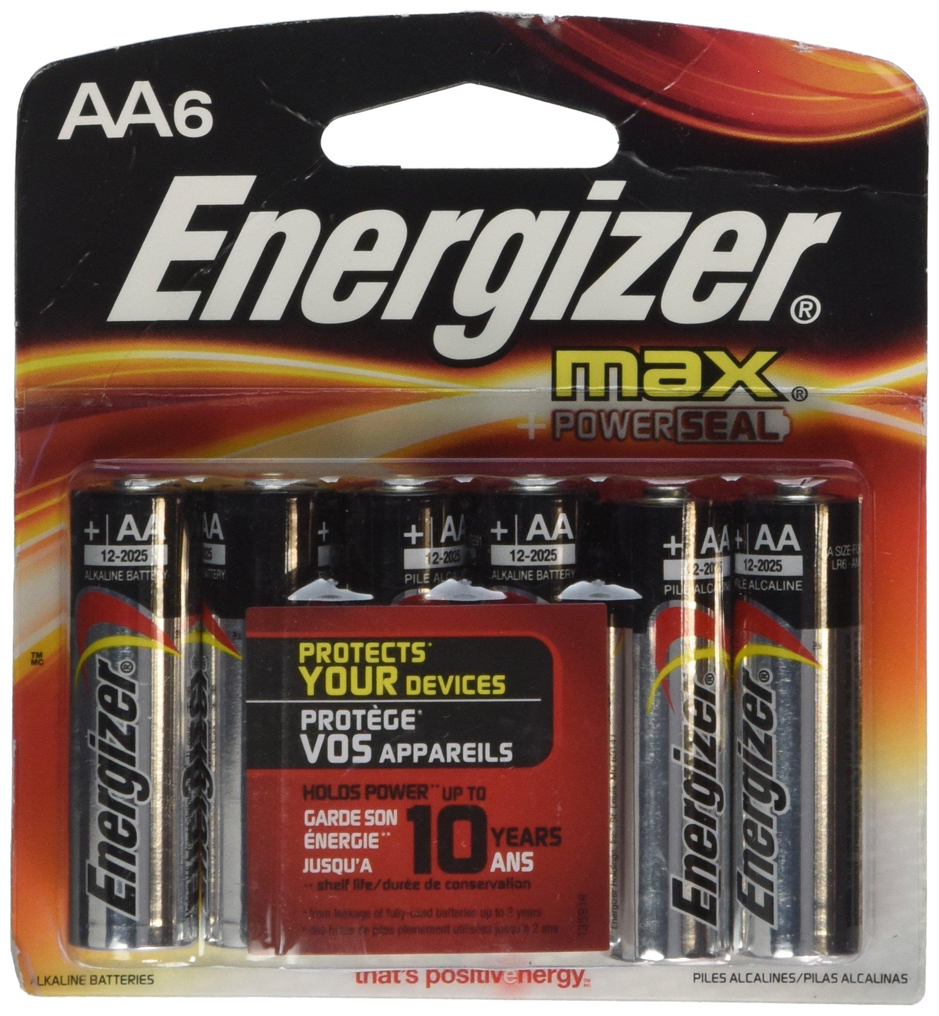 Energizer 06470 - AA Cell 1.5 volt MAX Battery (6 pack) (E91BPF-6)