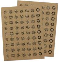 Happy Holidays Sticker Seals - Set of 126-1 Inch Assorted Kraft Holiday Envelope Seals