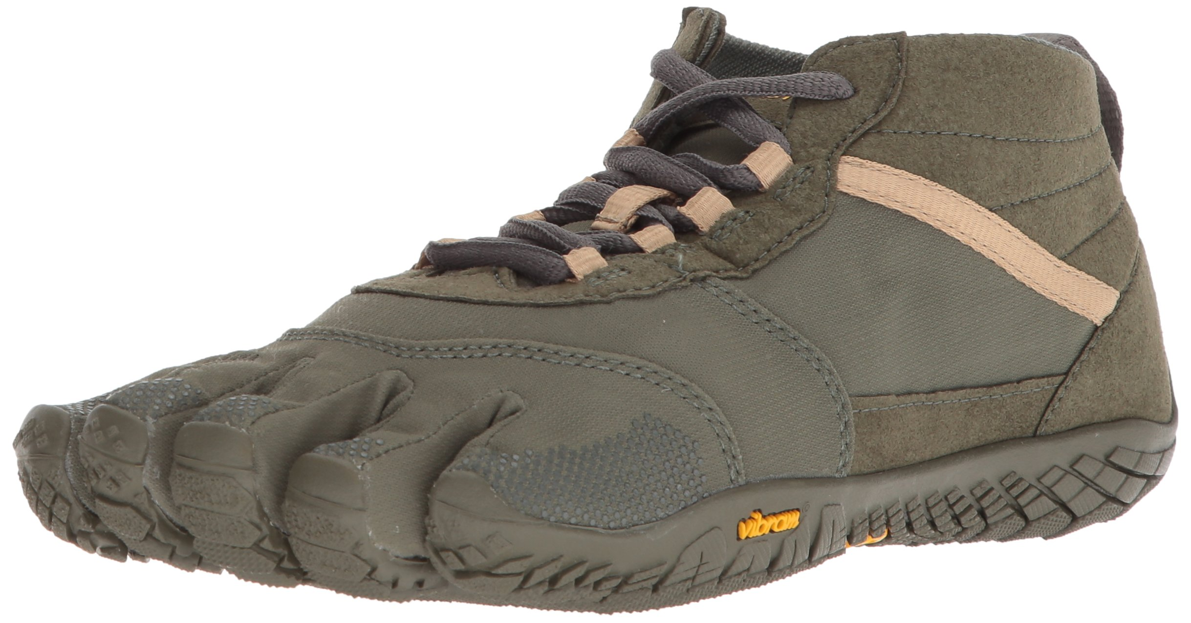 Vibram Men's s V-Trek Khaki/Black Hiking Shoe
