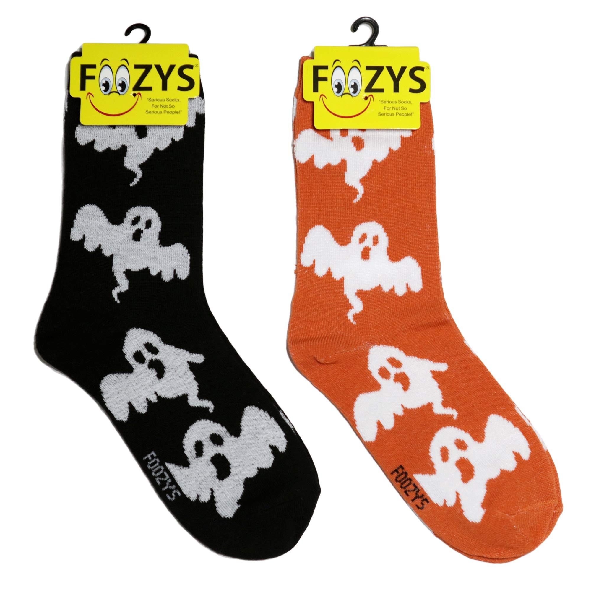Foozys Women's Crew Socks   Cute Fun Designs Fashion Novelty Socks   2 Pairs