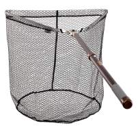 McLean Tri Folding Telescopic Weigh Rubber Mesh Landing Net with Handle