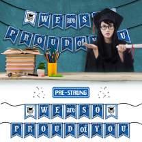 PAKBOOM We Are So Proud of You 2020 Grad Banner Graduation Decorations Perfect for High School College Graduate Party Decor Supplies