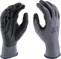 West Chester PosiGrip 713SNF Palm Dip Glove - [Pack of 12] X-Large, Industrial Gloves, Black Foam Nitrile Coating on Polyester Shell, Knit Wrist