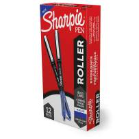 Sharpie Rollerball Pen, Arrow Point (0.7mm) Pen for Bold Lines, Blue Ink, 12 Count