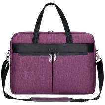 S-ZONE Laptop Tote Bag for Women 15.6 inch Computer Handbag Shoulder Work Purse