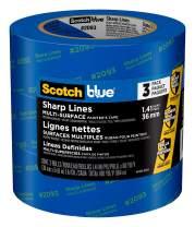 ScotchBlue Sharp Lines Painter's Tape, 1.41 inch x 60 yard, 3 Rolls