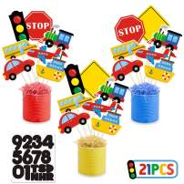 Faisichocalato Transportation Table Centerpieces Car Bus Train Plane Ship Traffic Light Table Toppers for Kids Transportation Theme Birthday Party Photo Props Decorations Baby Shower Supplies