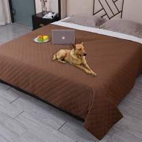 """Waterproof Dog Bed Cover Washable Pet Blanket,ReusableDog Cover for Couch with Non-Slip Back,Waterproof Comforter Bed Cover Furniture Protector,Soft Puppy Blankets for Dog,Cat,Kids (82""""x82"""", Coffee)"""