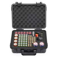 SHBC Battery Organizer Storage Box with Battery Tester Case Bag Holder fits for 77 Batterie