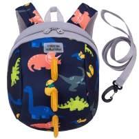 willikiva 3D Dinosaur Backpack Toddler Backpacks for Boys and Girls Kids Backpack Waterproof Preschool Safety Harness Leash (3D Deep Blue)