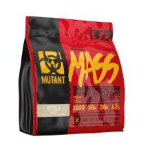 Mutant Mass Weight Gainer Protein Powder – Build Muscle Size and Strength with 1100 Calories – 56 g Protein – 26.1 g EAAs – 12.2 g of BCAAs – 5 lbs – Vanilla Ice Cream
