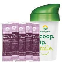 Amazing Grass Green Superfood Antioxidant: Super Greens Powder with Spirulina, Elderberry & Probiotics, Sweet Berry, 60 Count + Shaker