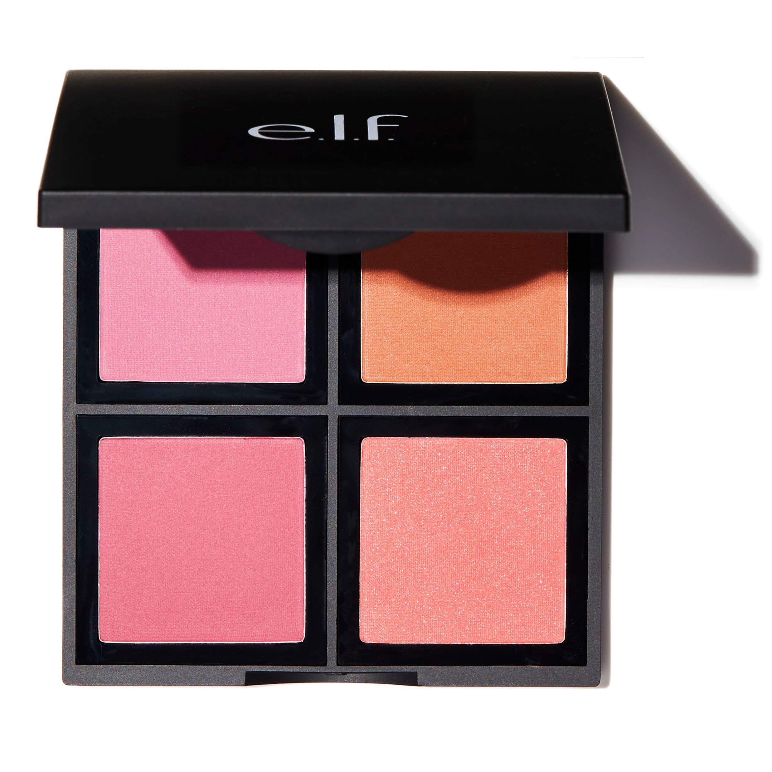 e.l.f. Cosmetics Powder Blush Palette, Four Blush Shades for Beautiful, Long-Lasting Pigment, Light