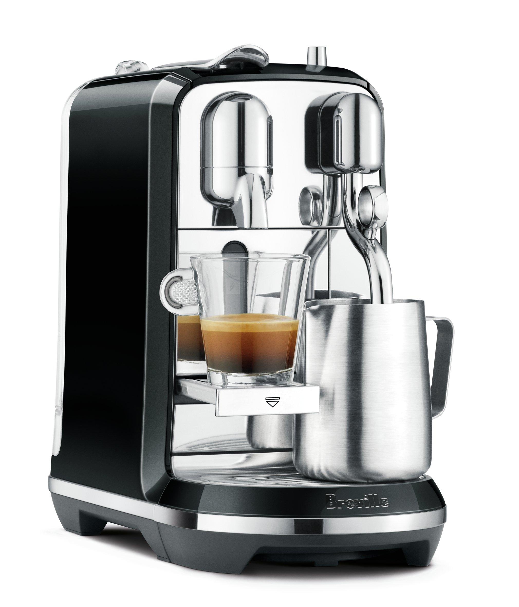Breville Nespresso Creatista Single Serve Espresso Machine with Milk Auto Steam Wand, Black