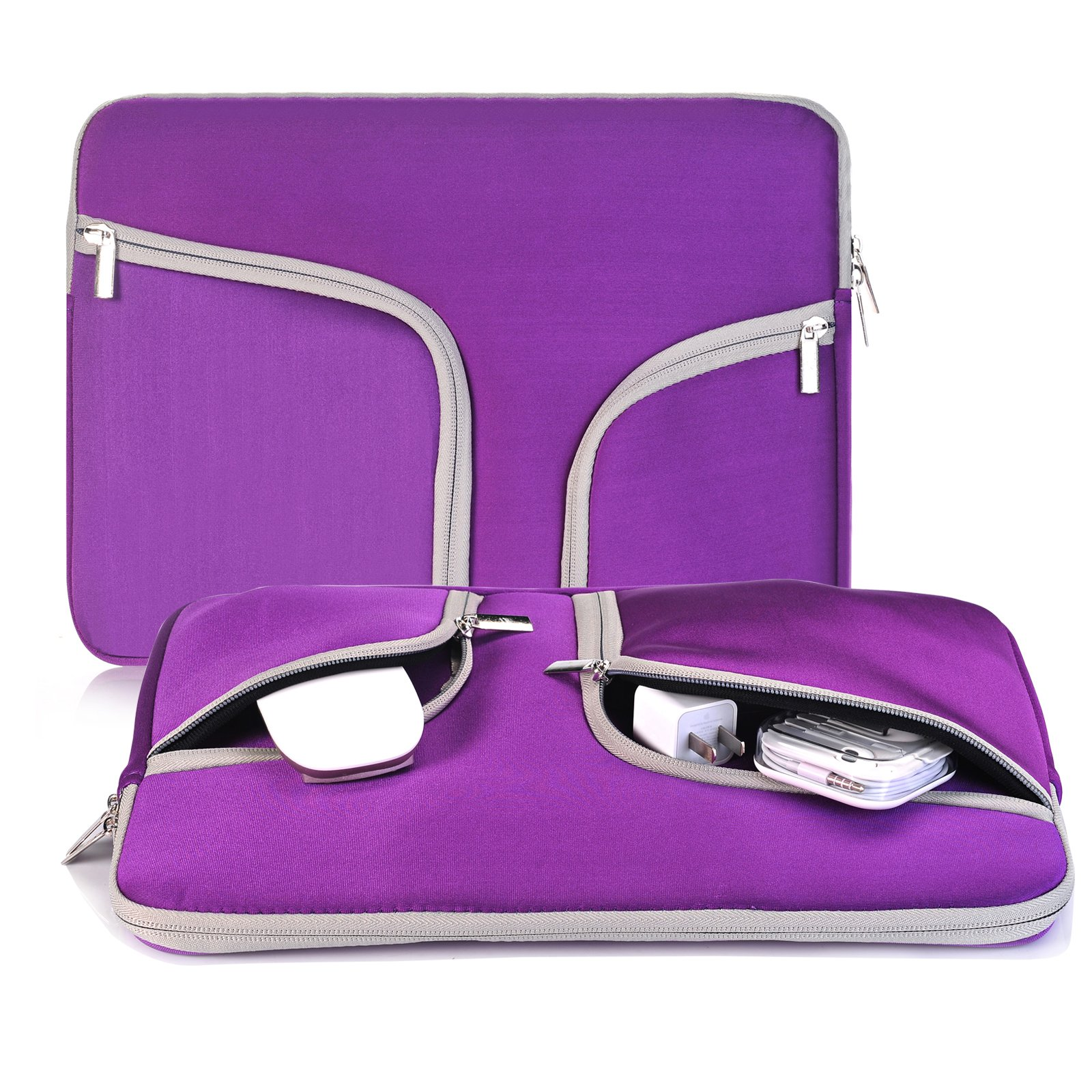 egiant Laptop Sleeve 13.3 Inch,Water-Resistant Protective Notebook Case Bag Compatible Mac Air 13,Mac Pro 13 Retina,Surface Book,12.9 iPad Pro,Chromebook 13,Computers Notebook Carrying Case-Purple