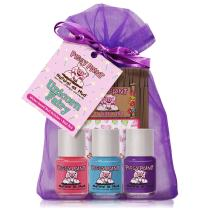 Piggy Paint - 100% Non-toxic Girls Nail Polish, Safe, Chemical Free, Low Odor for Kids - 3 Polish Gift Set (Unicorn Fairy)