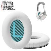 Replacement Memory Foam Earpads, Replacement Ear Pads for Bose QuietComfort15 QC2 QC15 QC25 QC35 AE2 Headphones Ear Cushion Kit (White Cushion+White Mat)