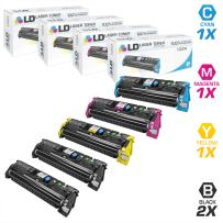 EMARKET4ALL Remanufactured Toner Cartridge Replacement for HP 122A (Black,Cyan,Magenta,Yellow , 5-Pack)