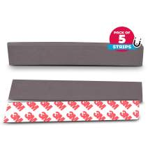 NextClimb Flat Magnetic Tape Strips Extra Strong Magnet and Adhesive Tape - Perfect for Teachers, Crafts and DIY Projects (5-Pack (1 x 5.8in) 3M Adhesive)