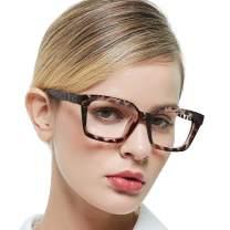 MARE AZZURO Blue Light Blocking Reading Glasses Women Stylish Anti Glare UV Computer Readers 0 1.0 1.5 2.0 2.5 3.0 3.5 4.0 5.0 6.0 (Demi, 150)