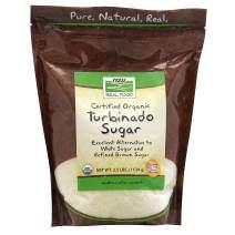 NOW Foods, Certified Organic Turbinado Sugar, Alternative to White and Refined Brown Sugar, Certified Non-GMO, 2.5-Pound