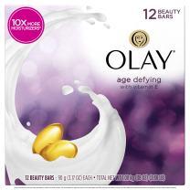 Olay Moisture Outlast Age Defying Beauty Bar, 12 Count per box, 38 Ounce