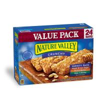 Nature Valley Granola Bars, Crunchy, Variety Pack of Oats 'n Honey, Peanut Butter, Maple Brown Sugar, 24 Count, Pack of 3