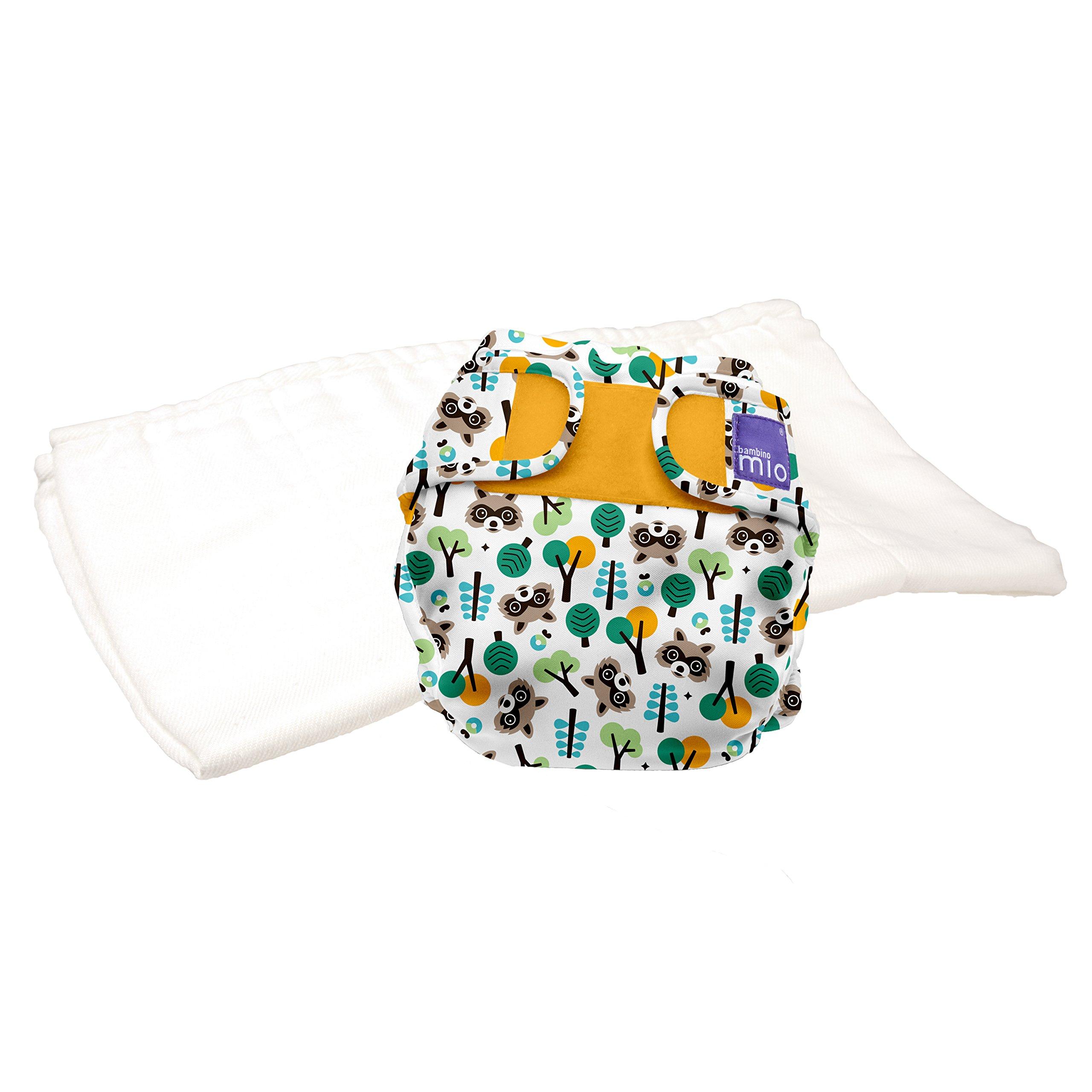 Bambino Mio, miosoft two-piece diaper (trial pack), raccoon retreat, size 2 (21lbs+)