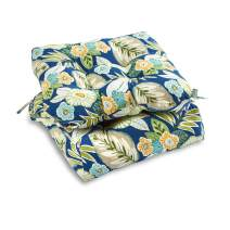 South Pine Porch AM6800S2-MARLOW Marlow Blue Floral Outdoor 20-inch Seat Cushion, Set of 2