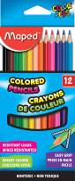 Maped Color'Peps Triangular Colored Pencils, Assorted Colors, Pack of 12 (832047ZV)