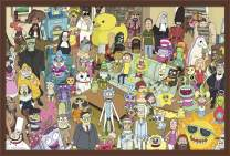 """Trends International Rick and Morty - Group, 22.375"""" x 34"""", Mahogany Framed Version"""