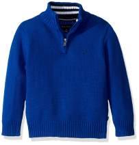 Nautica Boys' 1/4 Zip Logo Pullover Sweater