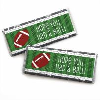 End Zone - Football - Candy Bar Wrappers Baby Shower or Birthday Party Favors - Set of 24