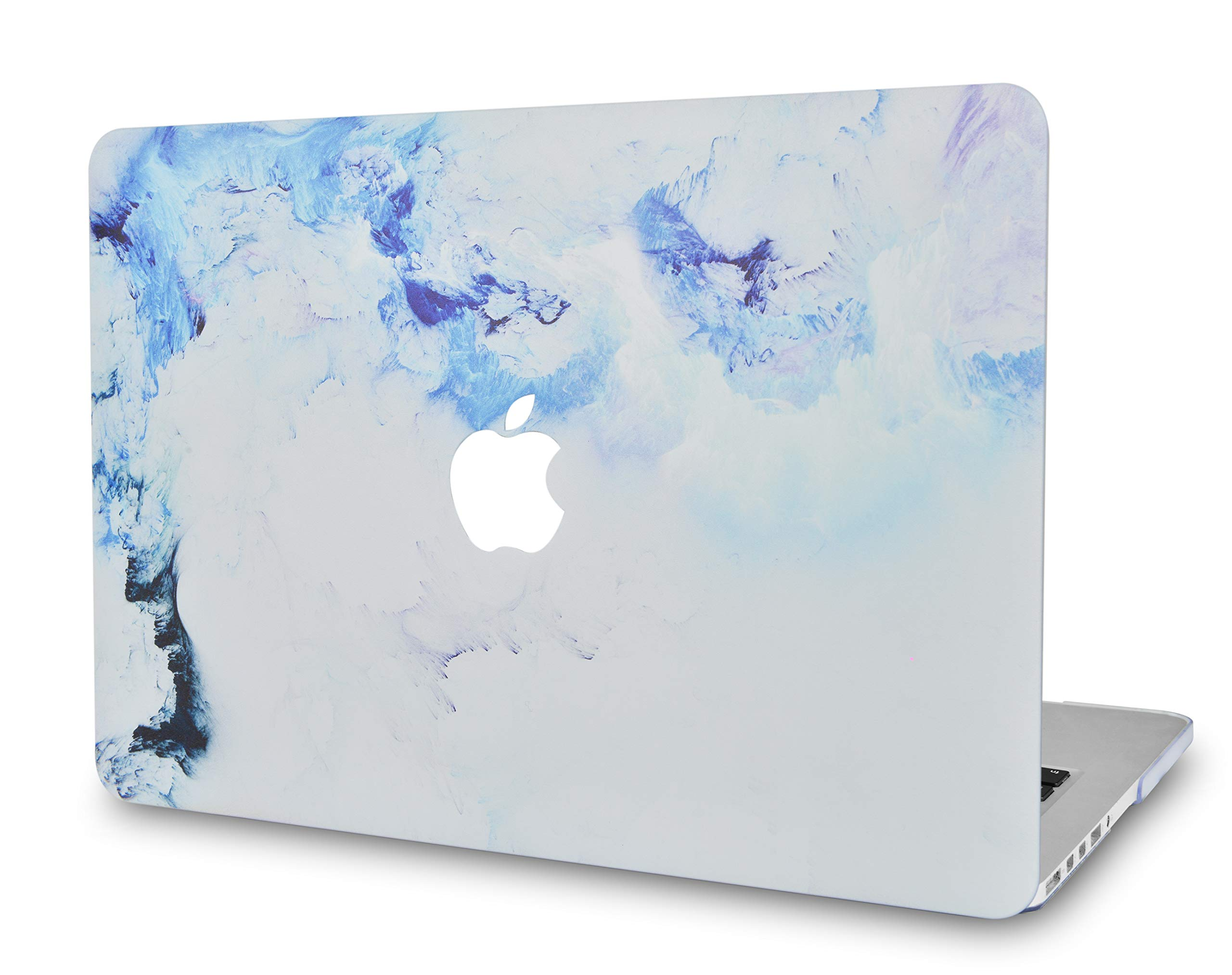 LuvCase Laptop Case for MacBook Air 13 Inch(2020/19/18Release) New Version A1932 with Retina Display (Touch ID)RubberizedPlasticHardShellCover (Blue Cloud Marble)