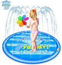 "Burst Sprinkle and Splash Play Yard Mat for Kids /& Adults 68/"" Splash Pad"